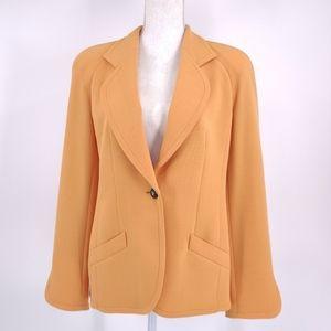 Vintage Louis Feraud Jacket Blazer 8 Apricot 80's 90's Power Blazer Virgin Wool